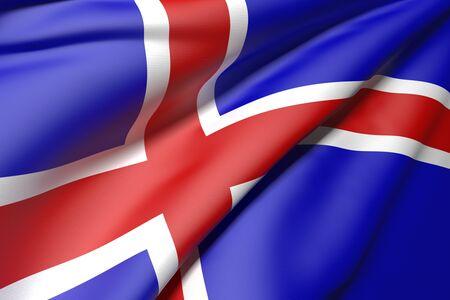 flag of iceland: Representaci�n 3D de una bandera de Islandia