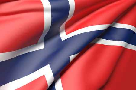norway flag: 3d rendering of a Norway flag Stock Photo
