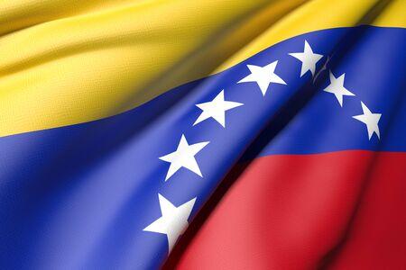 oppression: 3d rendering of a venezuela flag
