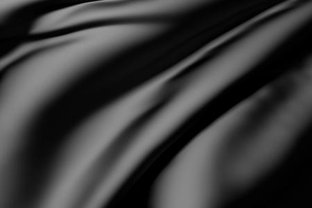 tela seda: Representaci�n 3D de un fondo de un negro de seda