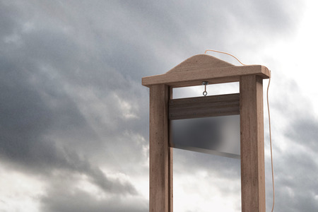 3d rendering of a guillotine, a dead instrument
