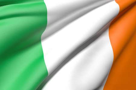 bandera de irlanda: Representaci�n 3D de una bandera de irlanda