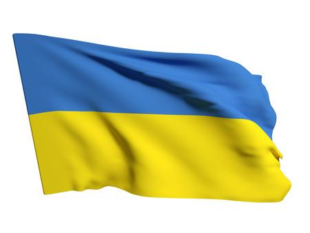 ukraine flag: 3d rendering of an Ukraine flag Stock Photo