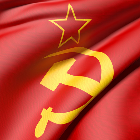 soviet: 3d rendering of an old soviet flag