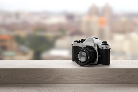 3d rendering of a reflex analog camera