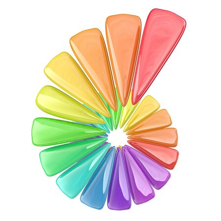 figuras abstractas: Representaci�n 3D de algunas figuras abstractas y colores en una espiral, concepto de negocio positivo Foto de archivo