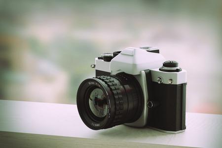 reflex: 3d rendering of a reflex analog camera