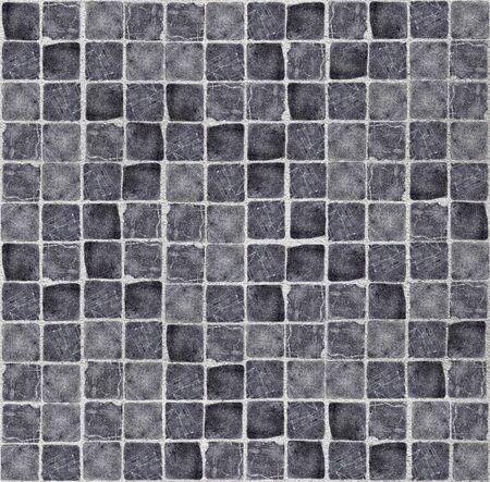 抽象的で汚れたタイル床の抽象的な構成
