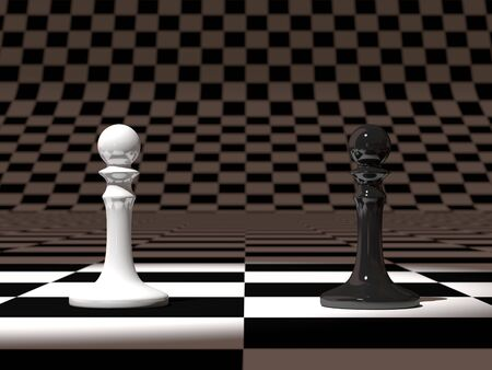 3d rendering of pawn chess