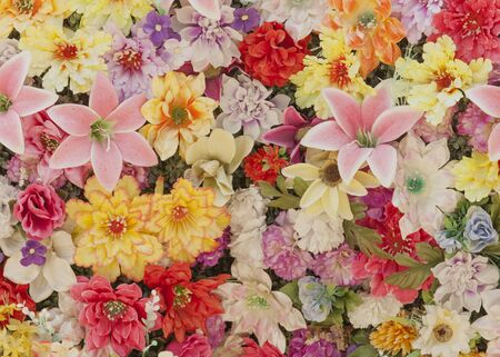 lots: background with lots of colorful flowers