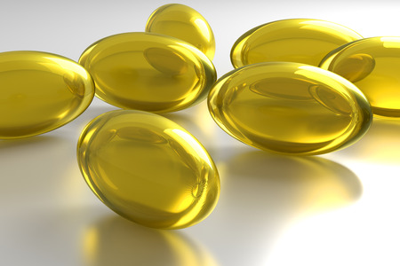 narcotics: 3d rendering of some yellow pills Stock Photo