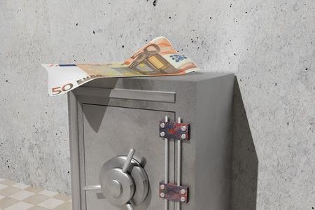 billet: design in 3d of a security steel safe and a big billet