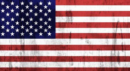 bandiera: Vecchio e sporco strutturato bandiera USA