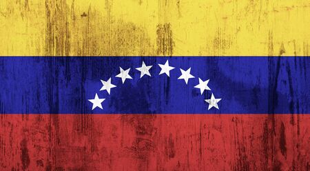 oppression: Old and dirty textured venezuela flag