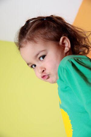 caucasian girl: portrait of a beautiful caucasian girl pouting