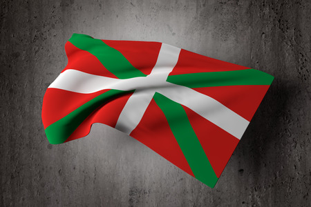 3d rendering of an old and dirty Basque country flag Stock Photo - 40805455