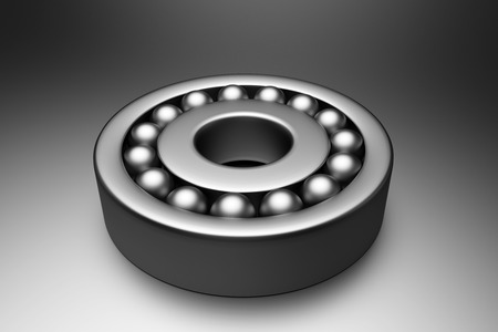 friction: 3d rendering of a steel bearing Stock Photo