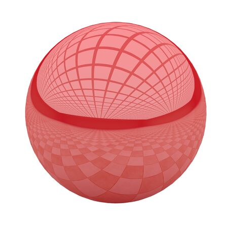 red ball: 3d rendering of a red ball with great reflection