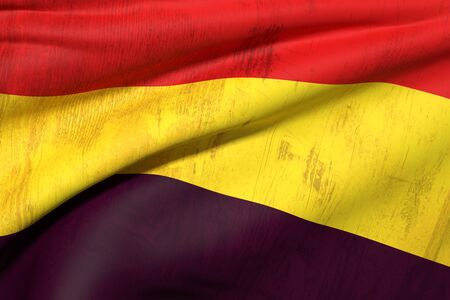 civil war: 3d rendering of the second spanish republic