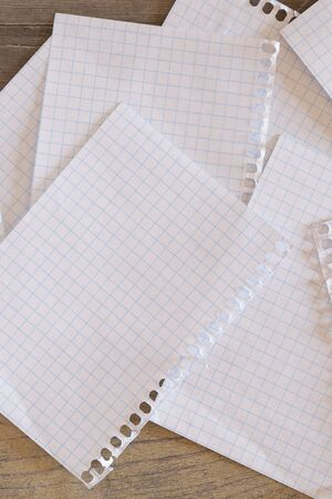 grid paper: Some sheets of grid paper over a wooden surface