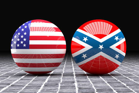 federated: 3d rendering of an Federated and confederated flags on a sphere