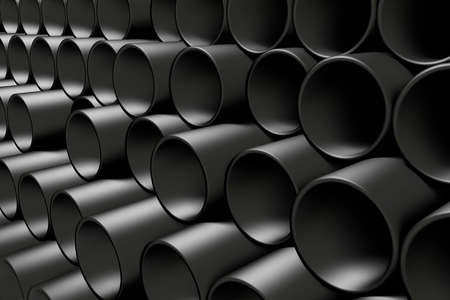 tubing: 3d rendering of a lot of pipelines Stock Photo