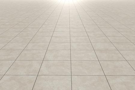 Representación 3D de un piso de baldosas cuadradas Foto de archivo