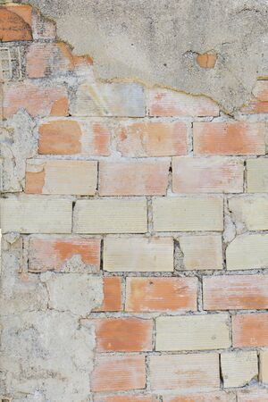 classic contrast: Old and dirty brick wall texture Stock Photo