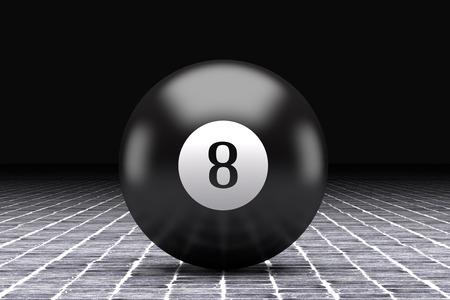 eight: 3d rendering of an eight billiard ball