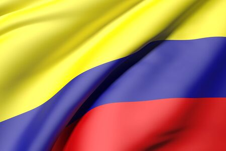 bandera colombia: 3d rendering of a colombia flag