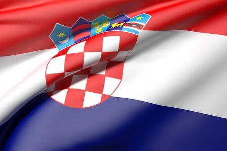 bandiera croazia: 3d rendering of  Croatia flag