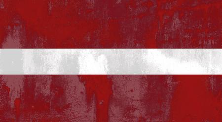 latvia flag: Illustration  of an old and dirty Latvia flag