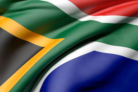 3d rendering of a South Africa flag waving Stock Photo - 45223422