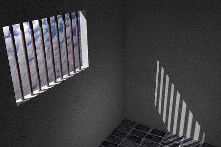 carcel: Representación 3D de una ventana de la cárcel vieja Foto de archivo