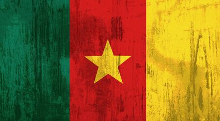 Illustration of an old and dirty Cameroon flag
