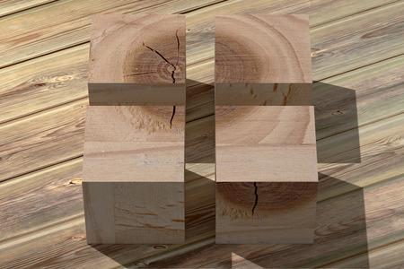 juguetes de madera: 3d rendering of some wooden cubes