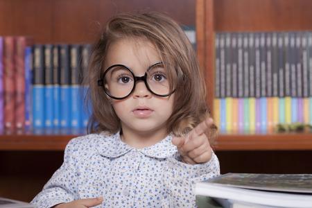 caucasian girl: beautiful caucasian girl in the library