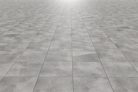 Representación 3D de un piso de baldosas cuadradas