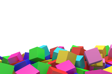 abstract 3d blocks: 3d rendering of an abstract composition with cubes of a lot of colors