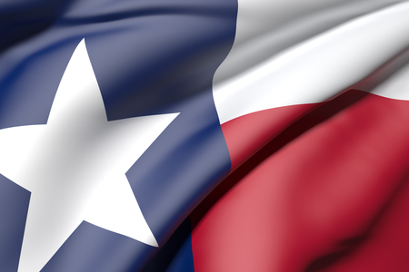 3d rendering of a texas flag
