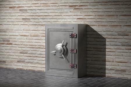 caja fuerte: representación 3D de un caso de seguridad de acero