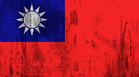 taiwanese: illustration of an old and dirty Taiwan flag