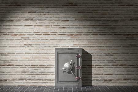 caja fuerte: 3d prestación de una caja de seguridad
