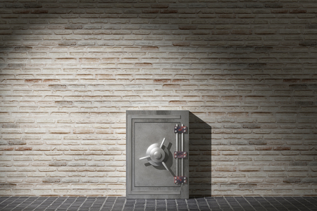 3d rendering of a security safe box 版權商用圖片