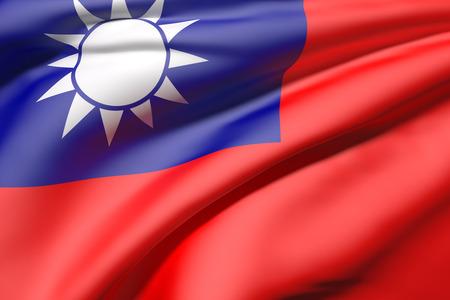 illustration of a Taiwan flag