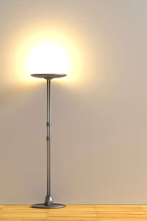 modern lamp: 3d rendering of a minimalism room with a modern lamp