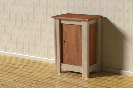nightstand: 3d rendering of a classic scene with a nightstand