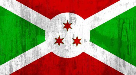 burundi: Illustration of an old and dirty Burundi flag
