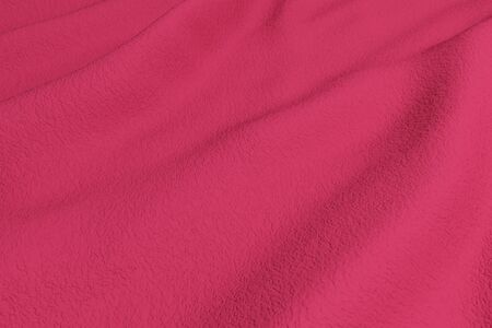 rippled: 3d rendering of a red rippled fabric.From above Stock Photo