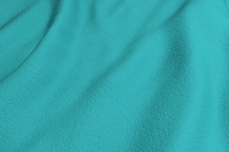 rippled: 3d rendering of a blue rippled fabric.From above Stock Photo